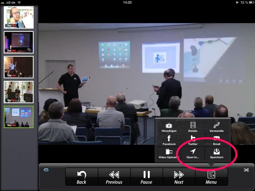 tablets.schule | Youtube Videos auf das iPad laden und bearbeiten